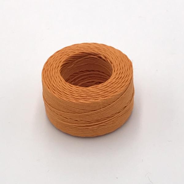 印地安手縫麻線捲 橙色 含蠟 中細 0.5mm*35m