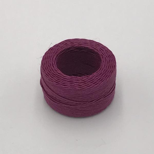 印地安手縫麻線捲 桃紅色 含蠟 中細 0.5mmX35m