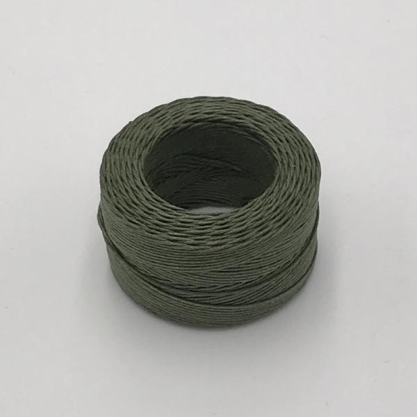 印地安手縫麻線捲 橄綠色 含蠟 中細 0.5mmX35m