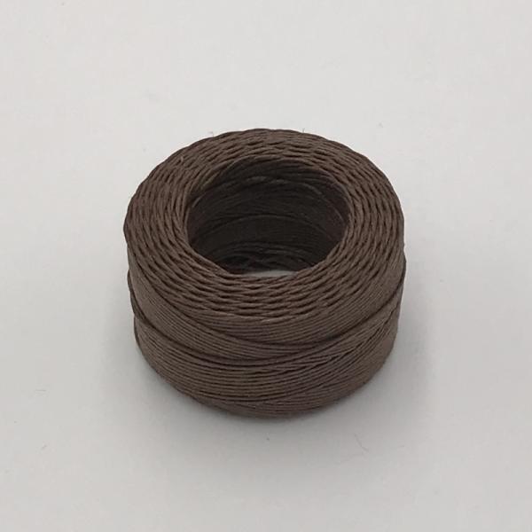 印地安手縫麻線捲 咖啡色 含蠟 中細 0.5mmX35m