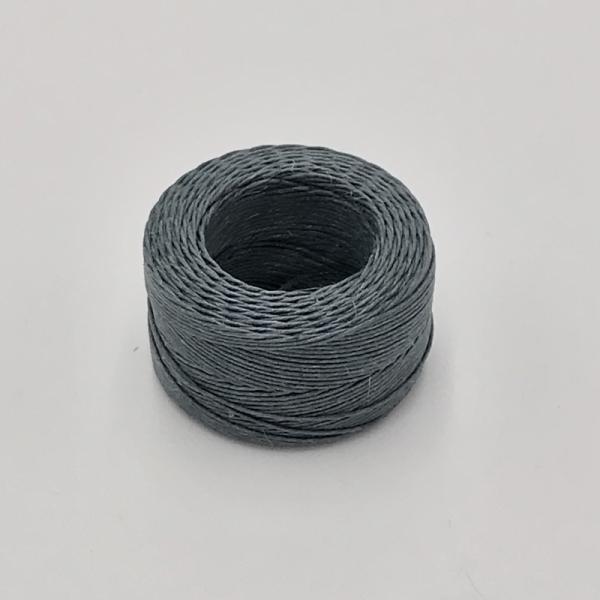 印地安手縫麻線捲 灰色 含蠟 中細 0.5mm*35m