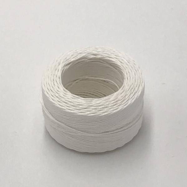 印地安手縫麻線捲 白色 含蠟 中細 0.5mmX35m