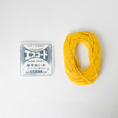 Linen Thread Yellow Thick 16/5 25M