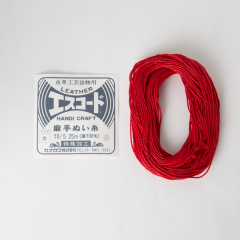 Linen Thread Red Thick 16/5 25M