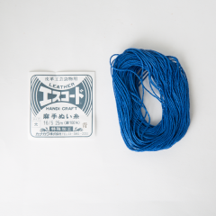 Linen Thread Blue Thick 16/5 25M