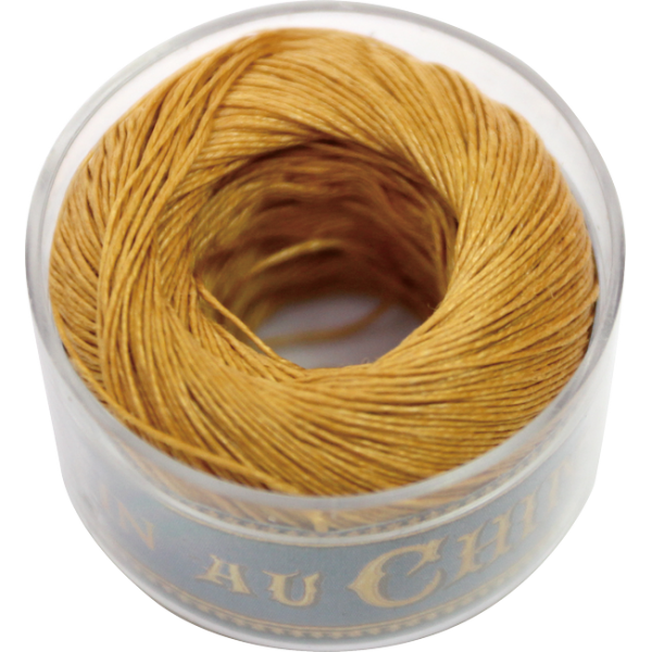 Fil Au Chinois Waxed Linen Thread S40 8#405 Golden-Yellow 0.45mmx50m