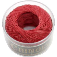 Fil Au Chinois Waxed Linen Thread S40 6#525 Red 0.45mmx50m