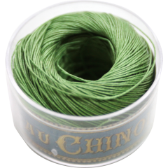 Fil Au Chinois Waxed Linen Thread S40 92#866 Bright-Green 0.45mmx50m