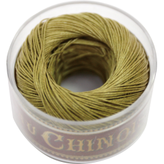 Fil Au Chinois Waxed Linen Thread S40 91#848 Yellow-Green 0.45mmx50m