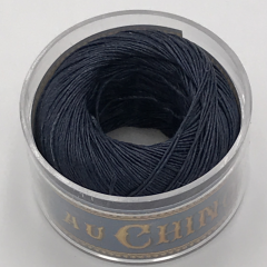 Fiil Au Chinois Waxed Linen Thread S40 74#650 Navy-Blue 0.45mmx50m