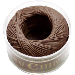 Fil Au Chinois Waxed Linen Thread S40 21#195 Dark-Brown 0.45mmx50m