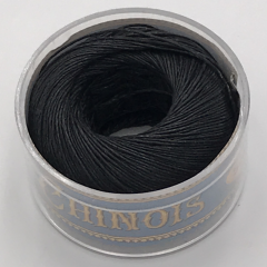 Fil Au Chinois Waxed Linen Thread S40 4#180 Black 0.45mmx50m