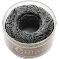 Fil Au Chinois Waxed Linen Thread S40 43#155 Dark-Grey 0.45mmx50m
