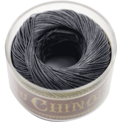Fil Au Chinois Waxed LInen Thread S40 44#174 Very-Dark-Grey 0.45mmx50m