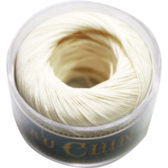 Fil Au Chinois Waxed Linen Thread S40 1#100 White 0.45mmx50m
