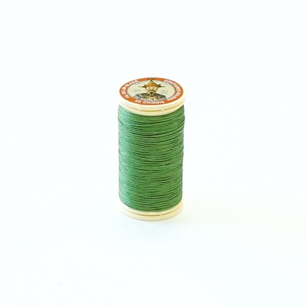 Fil Au Chinois Waxed Linen Thread #866 Bright-Green 0.45mmx30m