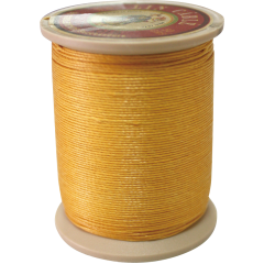 Fil Au Chinois Waxed Linen Thread  332 81#508 Yellow 0.77mmX133M