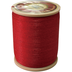 Fil Au Chinois Waxed Linen Thread 332 6#128 Red 0.77mmX133M