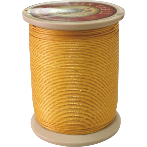 Fil Au Chinois Waxed Linen Thread 532 #508 Yellow 0.57mmX250M