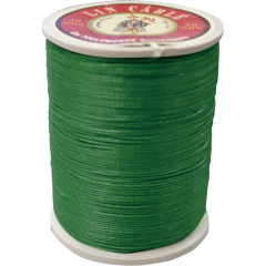 Fil Au Chinois Waxed LInen Thread 532 #767 Green 0.57mmx250M