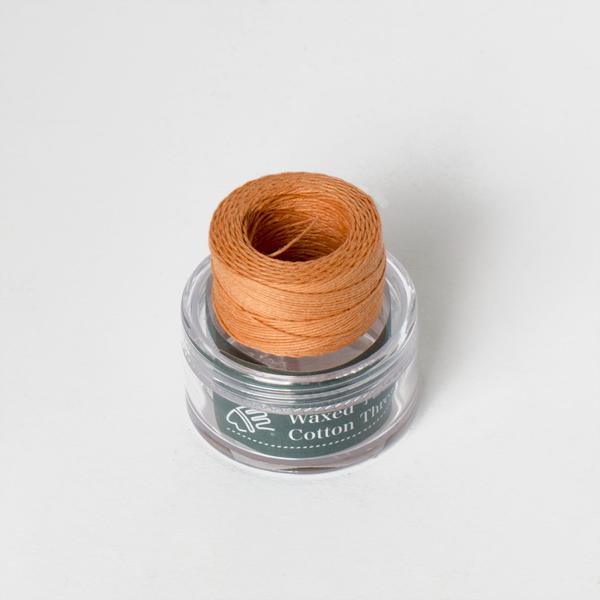 印地安手縫棉線捲 膚色 含蠟 中細 0.5mmX35M