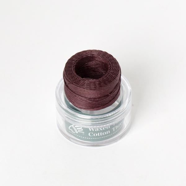 印地安手縫棉線捲 紫紅色 含蠟 中細 0.5mmX35M