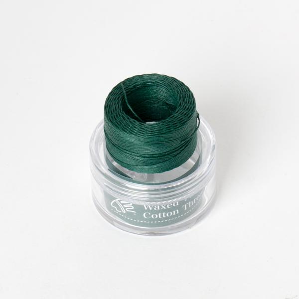 印地安手縫棉線捲 綠色 含蠟 中細 0.5mmX35M