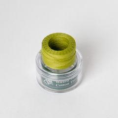 INDIAN Waxed Cotton Thread Mustard Green 0.5mmX35M