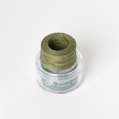 INDIAN Waxed Cotton Thread Olive Green 0.5mmX35M