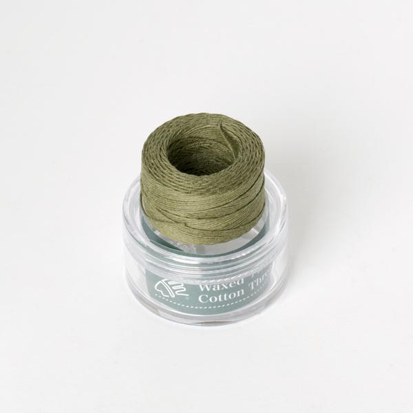 印地安手縫棉線捲 橄綠色 含蠟 中細 0.5mmX35M