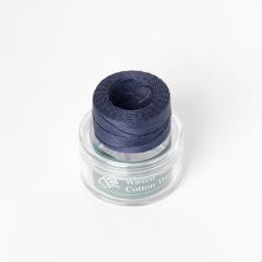 印地安手縫棉線捲 海軍藍色 含蠟 中細 0.5mmX35M