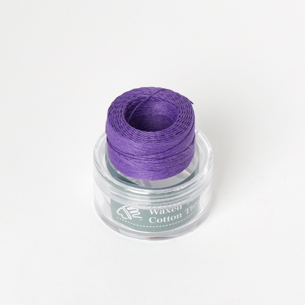 INDIAN Waxed Cotton Thread Purple  0.5mmX35M