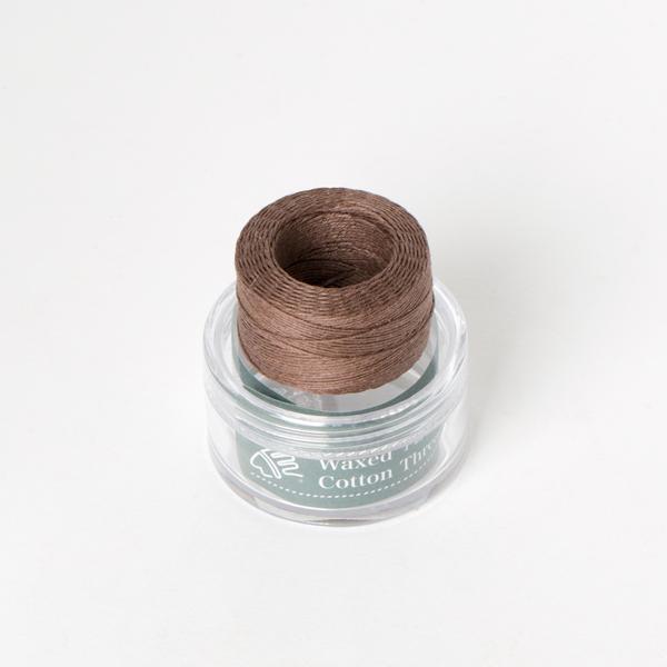 印地安手縫棉線捲 咖啡色 含蠟 中細 0.5mmX35M
