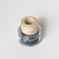 印地安手縫棉線捲 米白色 含蠟 中細 0.5mmX35M