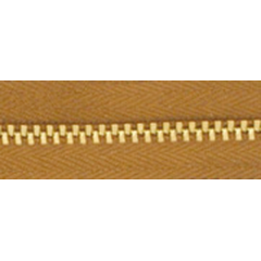 3號百碼銅拉鍊 棕 90cm