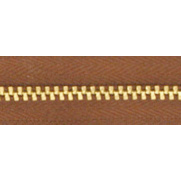 3號百碼銅拉鍊 咖啡 90cm