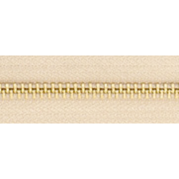 5號百碼銅拉鍊 卡其 90cm