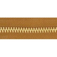 5號百碼銅拉鍊 棕 90cm