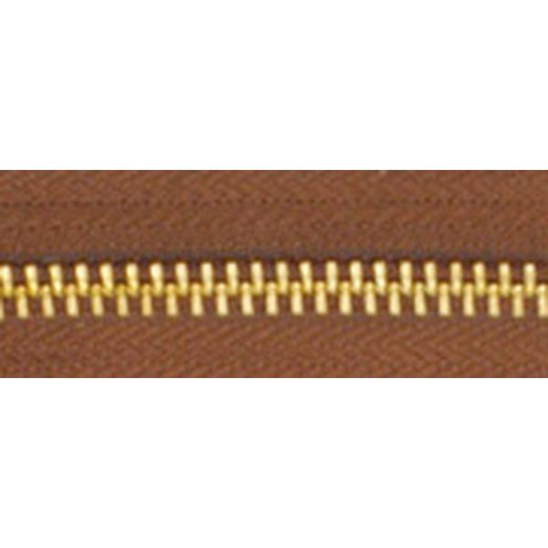5號百碼銅拉鍊 咖啡 90cm