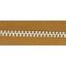 3號百碼鋁拉鍊 棕 90cm