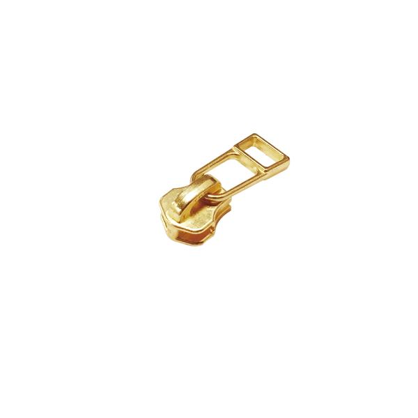 3號拉鍊頭 黃銅色 含上下止 10組