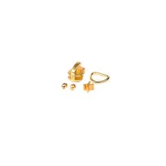 5號開口拉鍊頭 黃銅色 含皮拉片上下止
