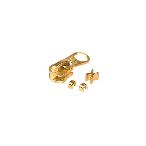 5號拉鍊頭 黃銅色 含上下止 10組