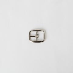 日型皮帶頭 鎳白色 1.2cm