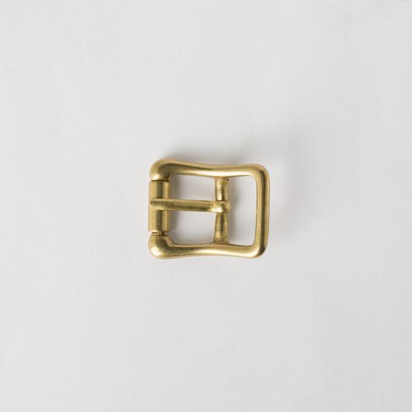 純銅日型皮帶頭 黃銅色 1.5cm