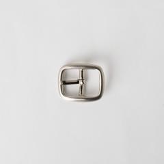純銅日型皮帶頭 鎳白色 1.5cm