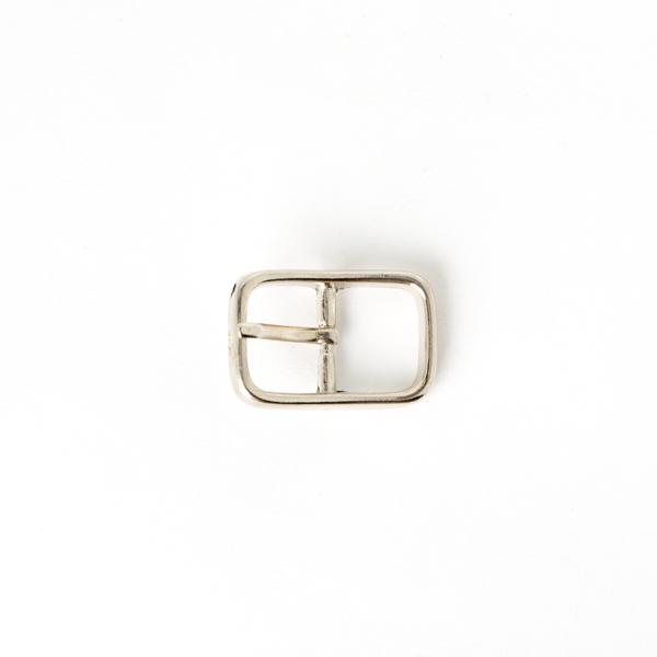 日型皮帶頭 鎳白色 1.6cm