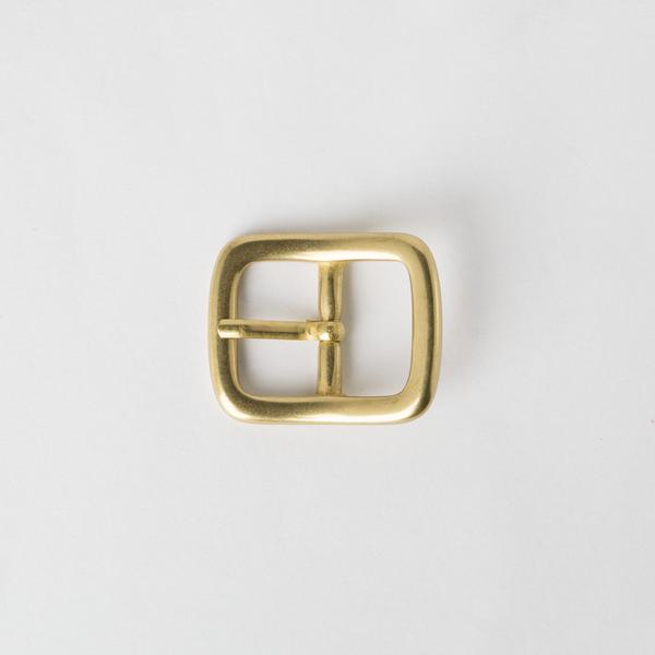 純銅日型皮帶頭 黃銅色 2cm