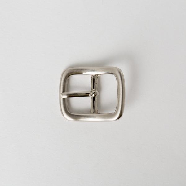 純銅日型皮帶頭 鎳白色 2.0cm