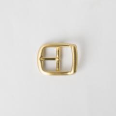 純銅日型皮帶頭 黃銅色 2.0cm
